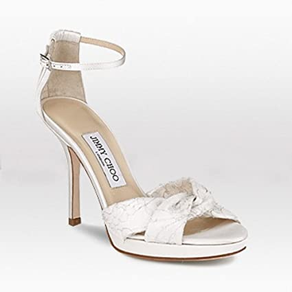 135006dfaa7 Jimmy Choo Macy Satin Lace Bridal Shoes White  Amazon.co.uk  Kitchen   Home