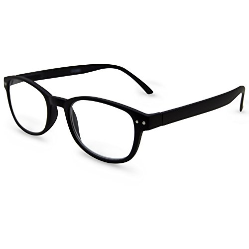 In Style Eyes Spring Hinged Reading Glasses Black - In Style Glasses Mens