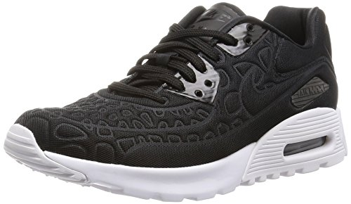 (Nike Womens Air Max 90 Ultra Plush Running Trainers 844886 Sneakers Shoes (US 7.5, Black White 001))