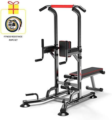 ベンチプレスホームジムプルアップスタンドアップ、腹筋運動、腕立て伏せ、プルアップ、腕立て伏せ、プルアップ、多機能筋力トレーニングエクササイズを備えたパワータワー
