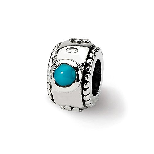 925 Sterling Silver Charm For Bracelet Blue Turquoise Bead Stone Crystal Fine Jewelry Gifts For Women For Her