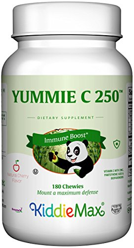 Maxi Health Chewable Yummie Vitamin C 250mg - Immune Booster - Cherry Flavor - 180 Chewies - (250 Mg 180 Chewable)