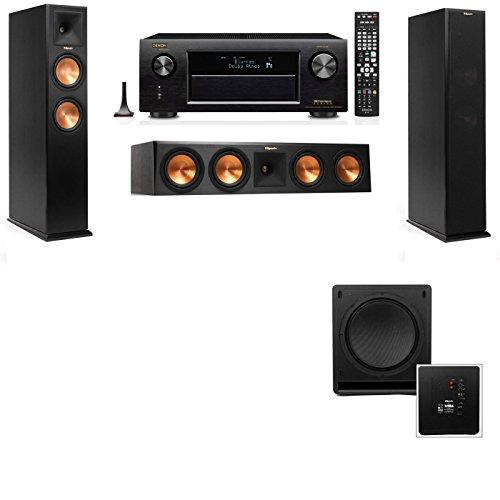 Klipsch RP-260F Tower Speakers-SW-112-3.1-Denon AVR-X4100W