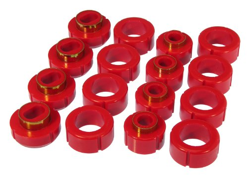 Cab Mount Kit (Prothane 7-116 Red Body and Extended Cab Pickup Mount Bushing Kit - 16 Piece)