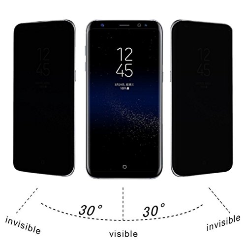 Price comparison product image For Samsung Galaxy S7 Edge / S8 / S8 Plus,  MNtech NEW Privacy Full Screen Protector Anti-Spy Tempered Glass (Black