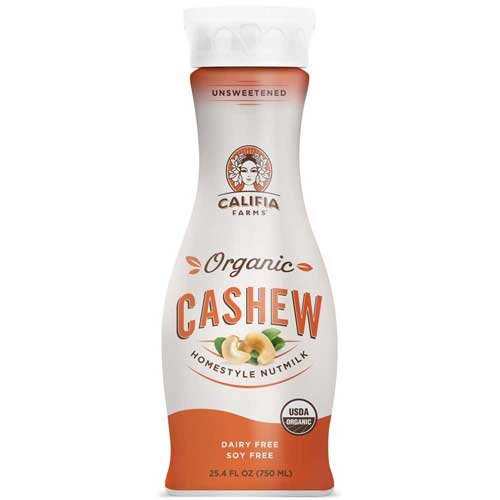 Califia Farms Homestyle Nutmilk Organic Unsweetened Cashewmilk, 25.4 Fluid Ounce -- 6 per case.