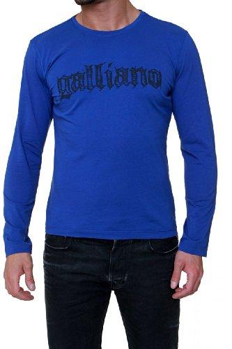 John Galliano Longsleeve LOGO, Color: Dark blue, Size: -
