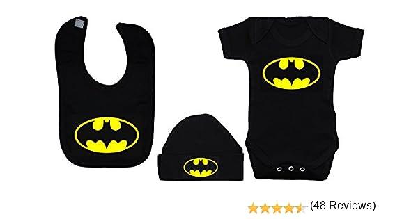 Babero beb/é 9 Meses en la Batcueva Logo Comic Fan Art Parodia Batman Beb/é Friki.