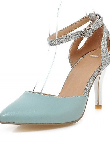 GGX/Damen Schuhe Kunstleder Stiletto Heel Heels Heels Office & Karriere/Kleid/Casual Blau/Pink/Weiß white-us5 / eu35 / uk3 / cn34