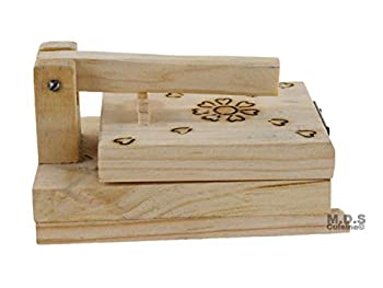 Tortilla Press Mini 4.5 Inch Authentic Traditional Wood Tortilla Sope Maker 4