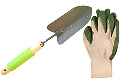 Garden Trowels Set | Includes Garden Trowel and Gardening Gloves Men Style with Latex Grip