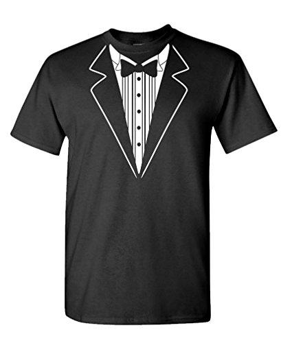 SIMPLE TUXEDO SHIRT - costume cosplay - Mens Cotton T-Shirt, S, (Simple Cosplay Costumes For Men)