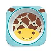Skip Hop Baby Zoo Little Kid and Toddler Melamine Feeding Bowl, Multi Jules Giraffe