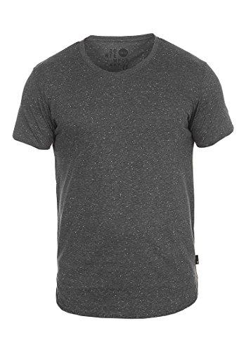 9000 Para Manga T shirt Redondo solid Camiseta Básica Con Hombre Corta Thias Black De Cuello Iw8R6wY