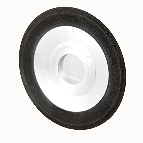 """CanTop Tool CT01-CBV 12V2 25 D127T16H31.75-G170/200 CBN Flaring Cup Wheels; OD 5""""; Thickness 0.625""""; Hole Dia 1.25""""; Angle 25 Deg; Bi-Grit 170/200; Concentration 100%; Vitrified Bond"""