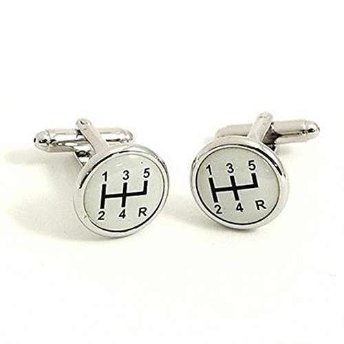 Procuffs Car Manual Transmission Stick Shift Reserve Gear Wedding F1 Cufflinks ()