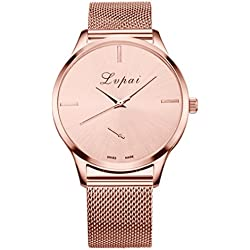 Women's Watch,FUNIC Hot Sale Fashion Luxury Wrist Watch (Rose Gold)
