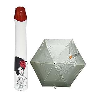 Novedad vino botella plegable portátil práctico lluvia sol paraguas