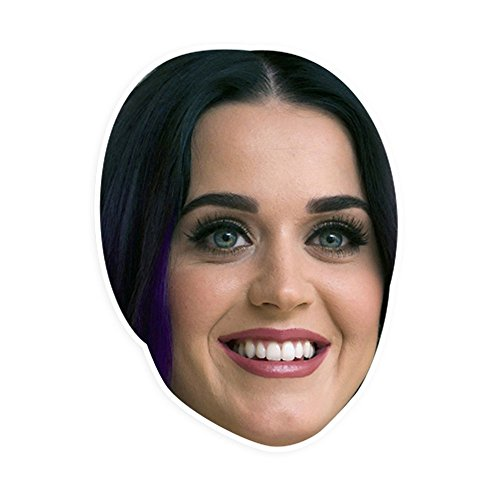 "[Excited Katy Perry Mask by RapMasks - 12"" x 9"" Waterproof Laminated] (Katy Perry Costumes For 10 Year Olds)"
