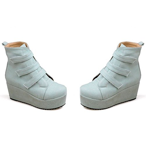 Velcro Women Fashion COOLCEPT Grey Boots qHzZaWwf