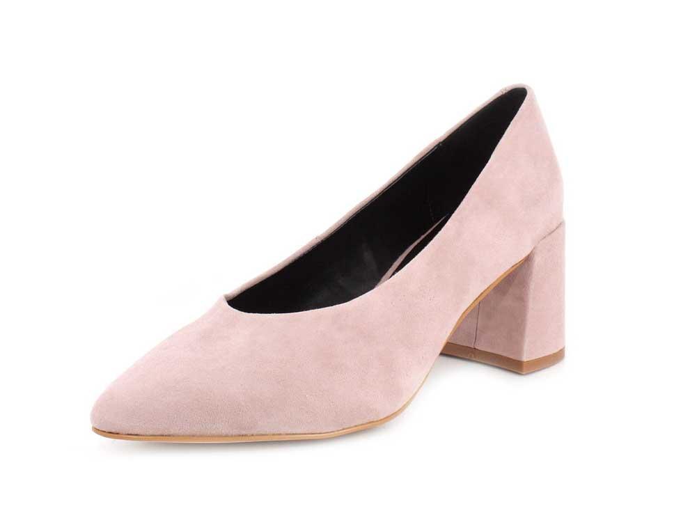 M4D3 Women's Suede Block Heel Pump B07CLBW252 9 B(M) US|Blush