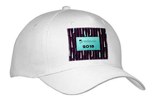Beverly Turner Graduation Design - Graduate with Cap, 2018, Tassels as Background, Aqua Green, Purple - Caps - Adult Baseball Cap (cap_262841_1) (Graduate Hat)