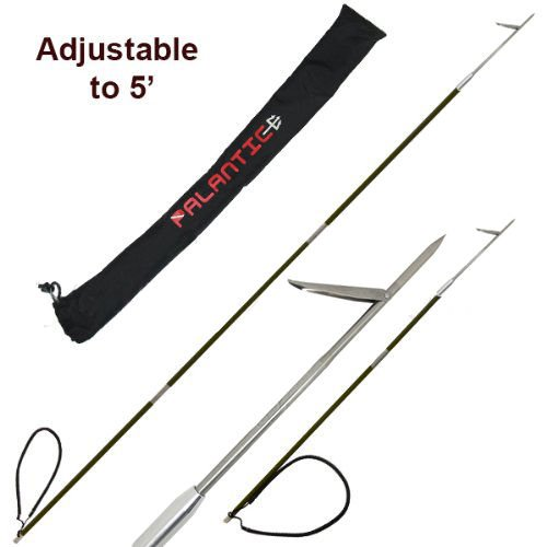 Carbon Fiber 7' Travel Spearfishing 3-Piece Pole Spear Single Flopper Tip