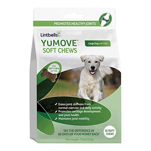 - YuMOVE Joint Supplement for Large Dogs - Glucosamine, Green Lipped Mussel, Omega 3, Chondroitin, Hyaluronic Acid - Natural Relief from Hip Ache, Stiff Joints, Inflammation - 30 Chewable Tasty Chews