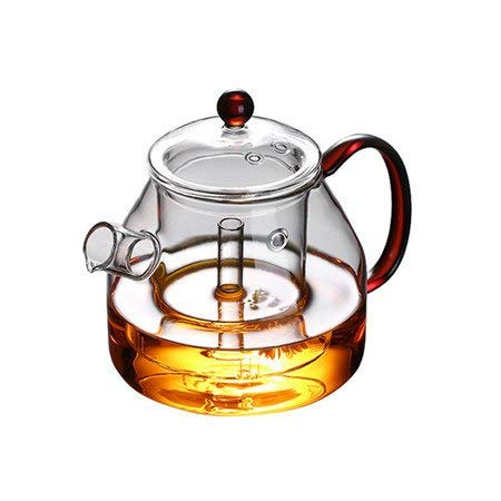 Glass Teapot - 1200ml Large Capacity Glass Steamed Steaming Tea Set Boiling Teapot Kettle - Glass Square Japanese Small Trendglas Cups Xt30u Free Induction Temperature Kettl Electric Filter