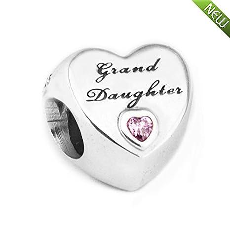98d258a786cf PANDOCCI 2017 Otoño Nieta Amor Corazón Rosa CZ Perlas de Plata de Ley 925  Ajustes de BRICOLAJE para Pandora Pulseras de Joyería de Moda Del Encanto   ...