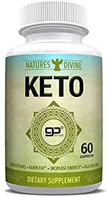 Keto Fat Burner with Patented goBHB - Best Exogenous Ketones - Burn Fat - Boost Metabolism - Top Ketosis Supplement for Men and Women - Top Keto Diet Pills - 60 Capsules