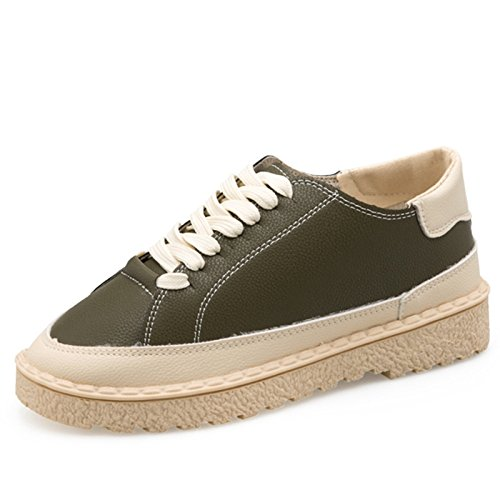 Femme amp;G Chaussures Femme Green Sneakers Casual Blanc Chaussures Conseil Baskets Chaussures Chaussures Chaussures Vulcaniser NGRDX À En Femme Lacets Femmes Cuir PU Femmes EHd1w7q