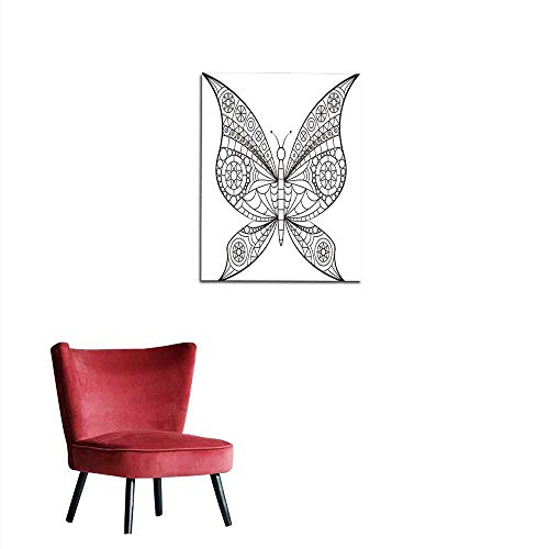(longbuyer Mural Decoration Coloring Book - Butterfly Mural 32