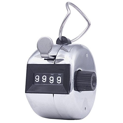 Grade: 1 to 12 Silver 2 Height Number of Digits: 4 12 Length CONTROL 3125 Mechanical Tally Counter 12 Wide Hand Held Mounting