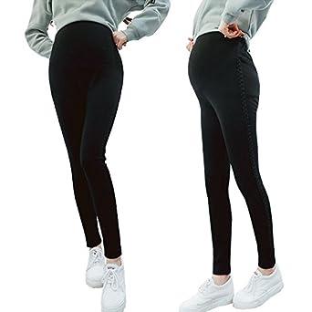 66c4013d637d01 Bold N Elegant Black Warm Fleece Comfortable Maternity wear Legging Thick  Warm Winter Pregnancy Belly Pants