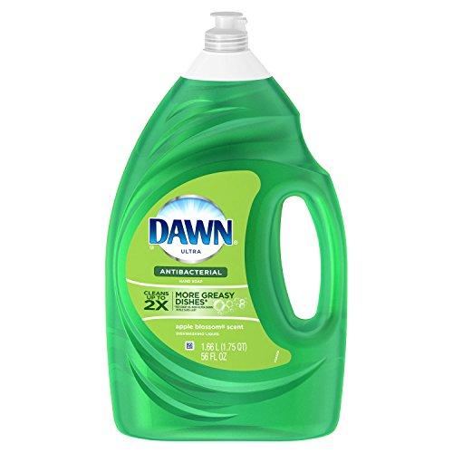 Dawn Ultra Antibacterial Apple Blossom Dishwashing Liquid, 56 Fl Oz