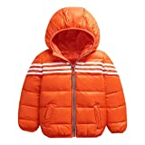 M&A Kids Boys Lightweight Hooded Puffer Down Jacket Packable Winter Coat