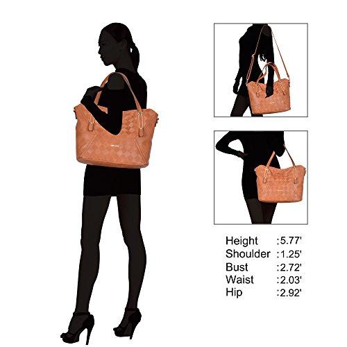 Bag Brown Shoulder Veevan Brown Ladies Handle Tote Handbag Top Fashion Women BwOnAT8q