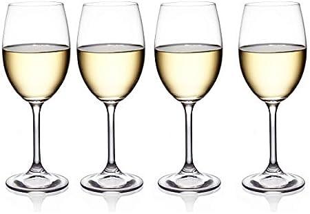 Construcción resistente: este exquisito juego de 4 copas de vino blanco puede contener 38 cl de vino