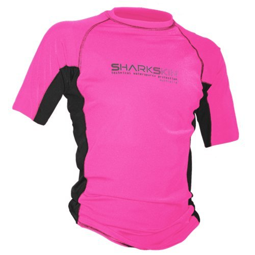 Sharkskin Rapid Dry Short Sleeve Shirt, Pink, Large by Sharkskin
