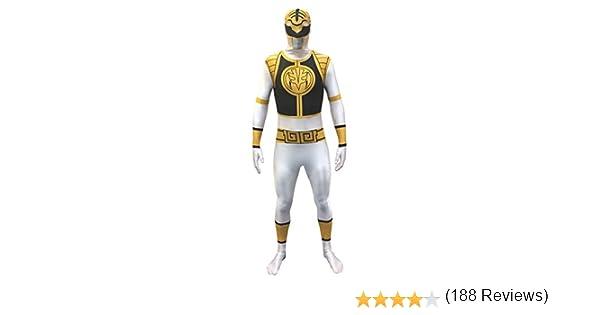Disfraces - Mighty Morphin Power Rangers BLANCO - ADULTO X GRANDE ...