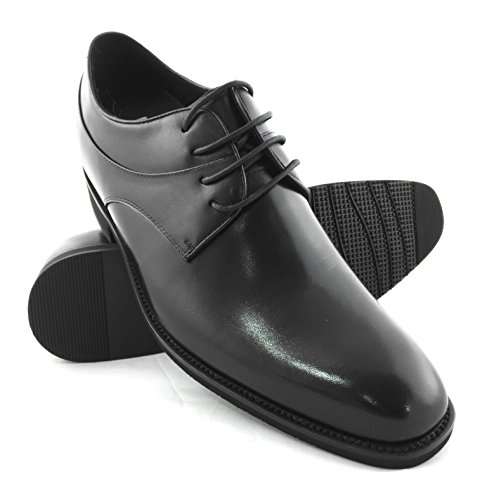 ZERIMAR Zapatos con alzas interiores de 7 Cm ¡OFERTA ESPECIAL 75 ANIVERSARIO! Fabricado en piel vacuna de alta calidad 100% piel Color negro negro