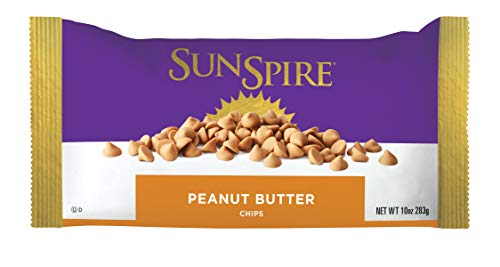 (SunSpire Peanut Butter Baking Chips, 10 Ounce, 12 Count )