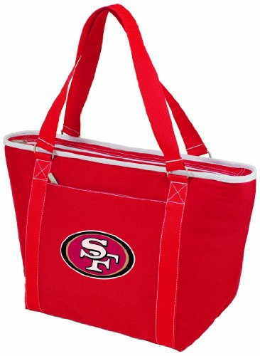 NFL San Francisco 49ers Topanga Insulated Cooler Tote, rosso