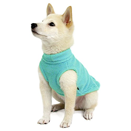 Gooby Stretch Fleece Pull Over Cold Weather Dog Vest, Mint, Small by Gooby