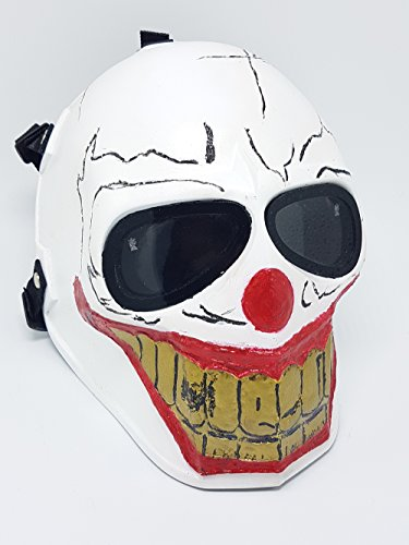 [Invader King TM Joker Army of Two Airsoft Mask Protective Gear Outdoor Sport Fancy Party Ghost Masks Bb] (Movie Character Costume Ideas Homemade)