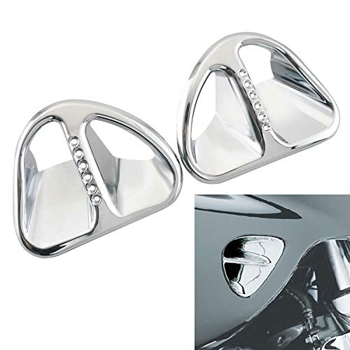 Motorcycle ABS Chrome Fairing Scoop Air Vent Intake Accents Grilles Duct Trim Cover Decorations For Honda Goldwing GL1800 2001-2011