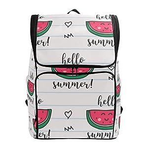 DXG1 Zaino Bianco Anguria Borsa Moda per Donne Uomini Ragazzo Ragazzo Bookbag Viaggio College Casual Daypack Prescolare… 9 spesavip