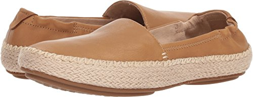 SPERRY Women's Sunset Ella Leather Loafer Flat, tan, 8 Medium US