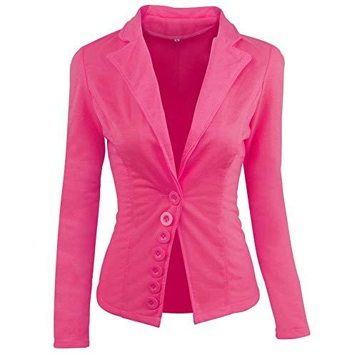 Primaverile Marca Button Di Con Cappotto Colore Rot Slim Giacche Puro Business Ufficio Tailleur Mode Giacca Da Moda Autunno Lunga Blazer Fit Donna Manica Casual Eleganti qX811z